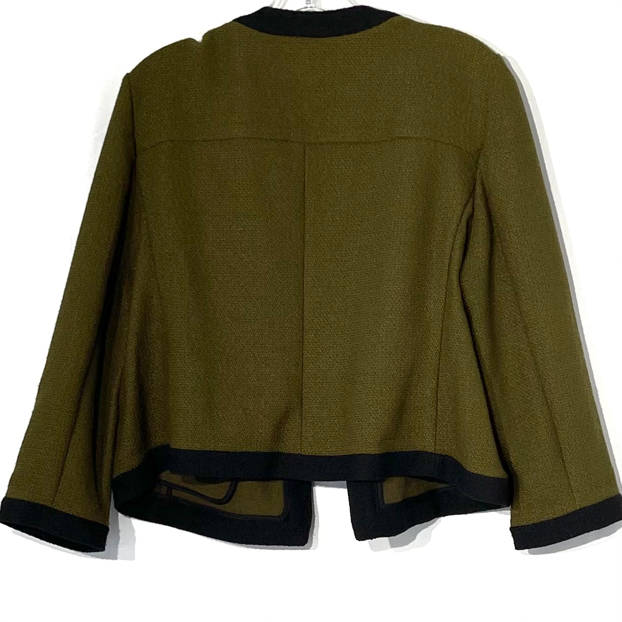 Photo #1 - BRAND: ANN TAYLOR<BR>STYLE: TOP LONG SLEEVE BLAZER<BR>COLOR: OLIVE <BR>SIZE: XL <BR>SKU: 262-26211-140946
