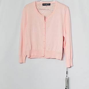 Primary Photo - BRAND: KARL LAGERFELD STYLE: SWEATER CARDIGAN LIGHTWEIGHT COLOR: LIGHT PINK SIZE: L SKU: 262-26275-76985