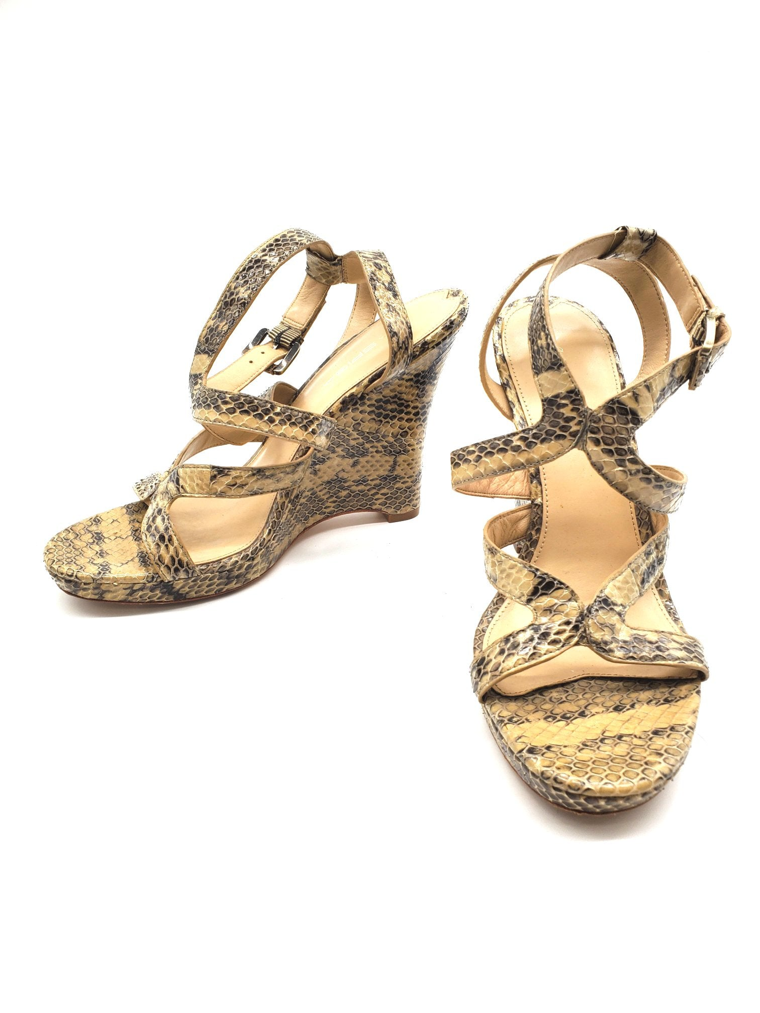 Photo #1 - BRAND: VIA SPIGA <BR>STYLE: SANDALS LOW <BR>COLOR: SNAKESKIN PRINT <BR>SIZE: 8.5 <BR>SKU: 262-26275-61560<BR>AS IS