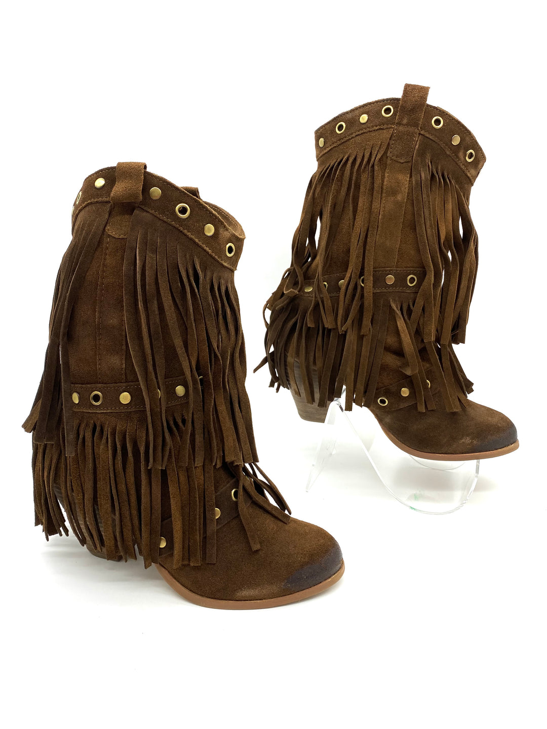 Photo #1 - BRAND: NAUGHTY MONKEY <BR>STYLE: BOOTS ANKLE <BR>COLOR: BROWN <BR>SIZE: 7.5 <BR>SKU: 262-26275-68411