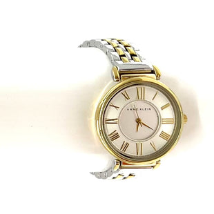 "Primary Photo - BRAND: ANNE KLEIN STYLE: WATCH COLOR: GOLD SILVER SKU: 262-26211-144176LENGTH 6.75""FACE JUST OVER 1"""
