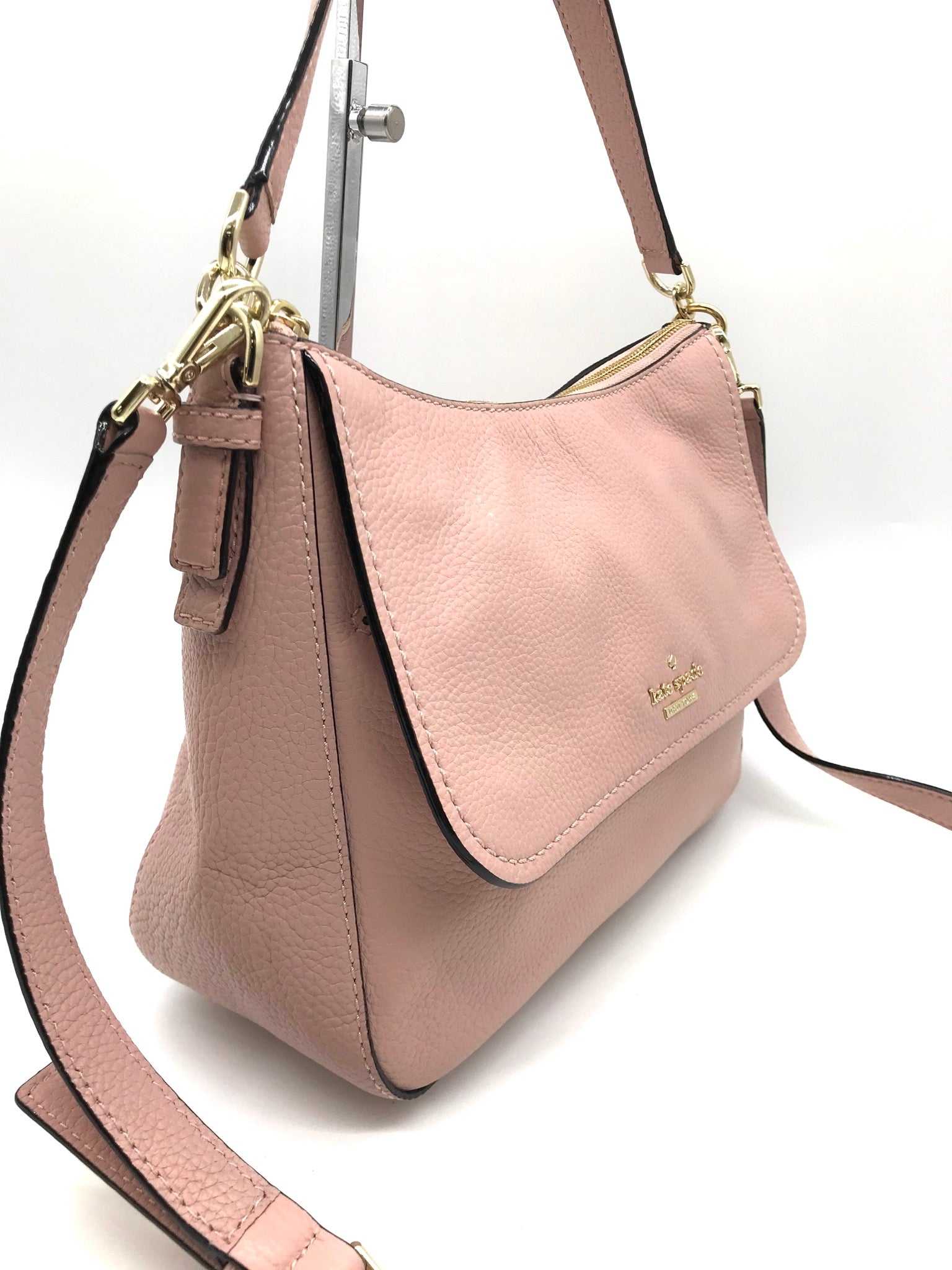 Photo #2 - BRAND: KATE SPADE <BR>STYLE: HANDBAG DESIGNER <BR>COLOR: LIGHT PINK <BR>SIZE: MEDIUM <BR>SKU: 262-26275-66916<BR>IN EXCELLENT SHAPE AND CONDITION