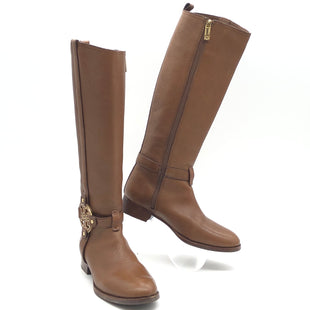 Primary Photo - BRAND: TORY BURCH STYLE: BOOTS KNEE COLOR: BROWNSIZE: 8.5 SKU: 262-26275-74884GENTLE WEAR • OVERALL IN GOOD SHAPE AND CONDITION •