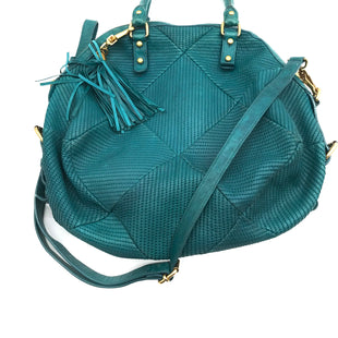 "Primary Photo - BRAND: REBECCA MINKOFF STYLE: HANDBAG DESIGNER COLOR: TEAL SIZE: MEDIUM SKU: 262-26275-64134APPROX. 14.5""L X 15""H. PRICE REFLECTS GENTLE WEAR"