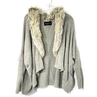Primary Photo - BRAND: MUSTARD SEED STYLE: SWEATER CARDIGAN LIGHTWEIGHT COLOR: GREY SIZE: M SKU: 262-26275-73688GENTLEST WEAR FUZZINESS FAUX FUR DETACHES