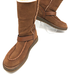 Primary Photo - BRAND: COACH STYLE: BOOTS ANKLE COLOR: BROWN SIZE: 9 OTHER INFO: WORN LEFT FOOT AS IS SKU: 262-26211-141905