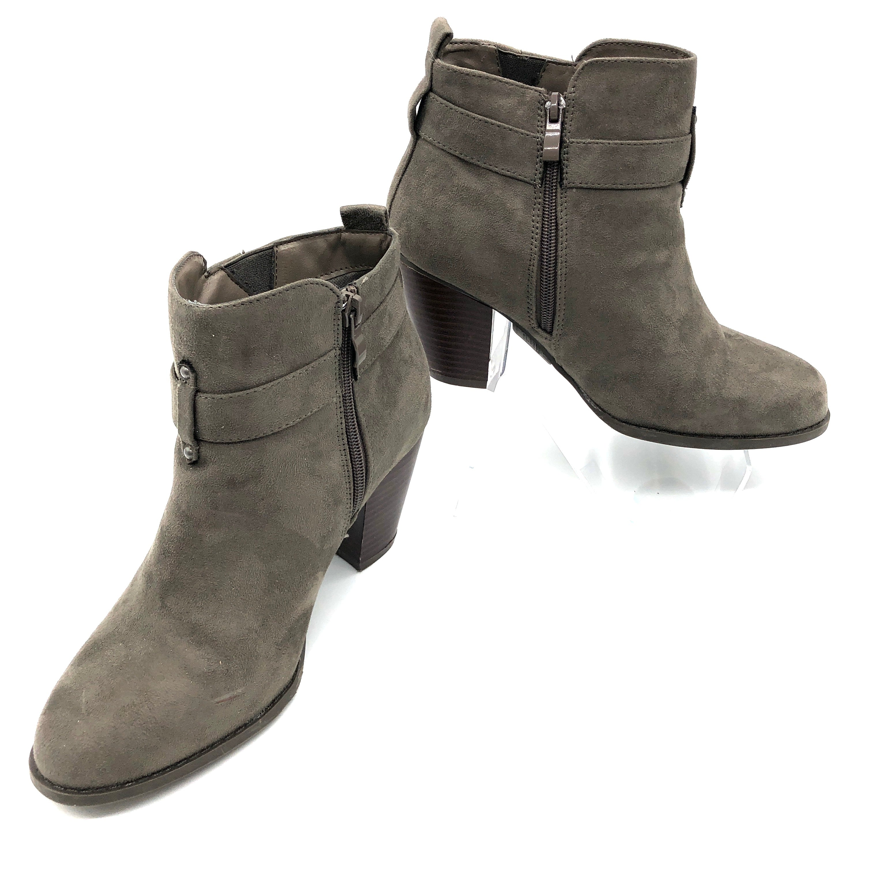 Primary Photo - BRAND: TORRID <BR>STYLE: BOOTS ANKLE <BR>COLOR: BROWN  / TAUPE<BR>SIZE: 8 <BR>SKU: 262-26241-44811