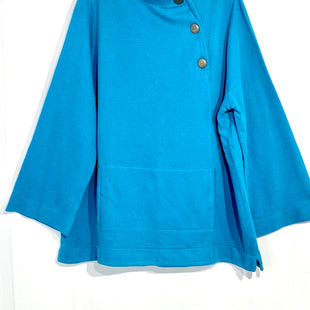 "Primary Photo - BRAND: SOFT SURROUNDINGS STYLE: TOP LONG SLEEVE COLOR: TURQUOISE SIZE: 2X SKU: 262-26275-6587395% COTTONPIT TO HEM 17""ACTUAL COLOR MORE GREEN THAN PHOTO SHOWS"
