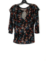 Photo #1 - BRAND: FREE PEOPLE <BR>STYLE: TOP 3/4 LONG SLEEVE <BR>COLOR: FLORAL <BR>SIZE: XS <BR>SKU: 262-26275-70593