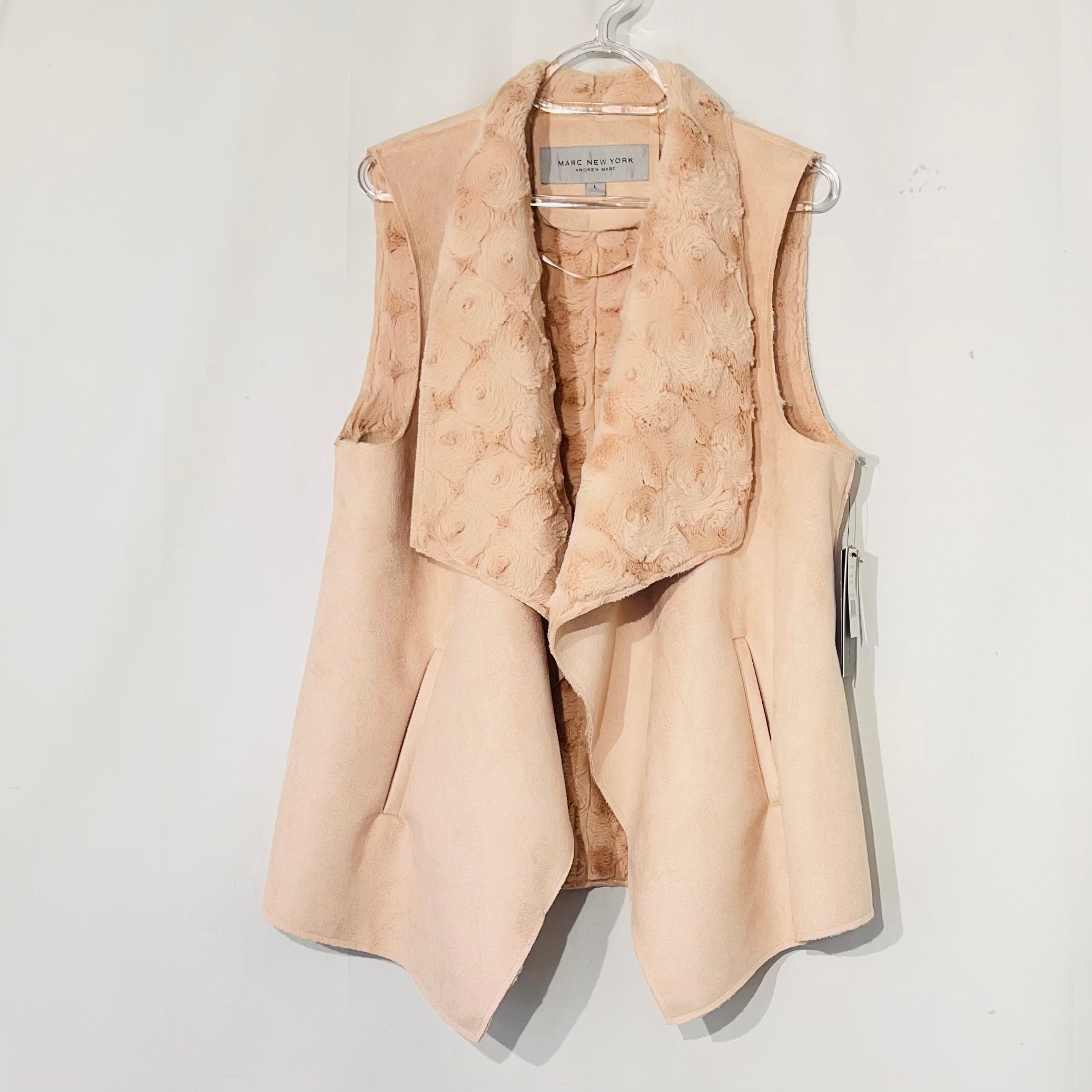 Primary Photo - BRAND: ANDREW MARC <BR>STYLE: VEST <BR>COLOR: LIGHT PINK <BR>SIZE: L <BR>SKU: 262-26275-73961