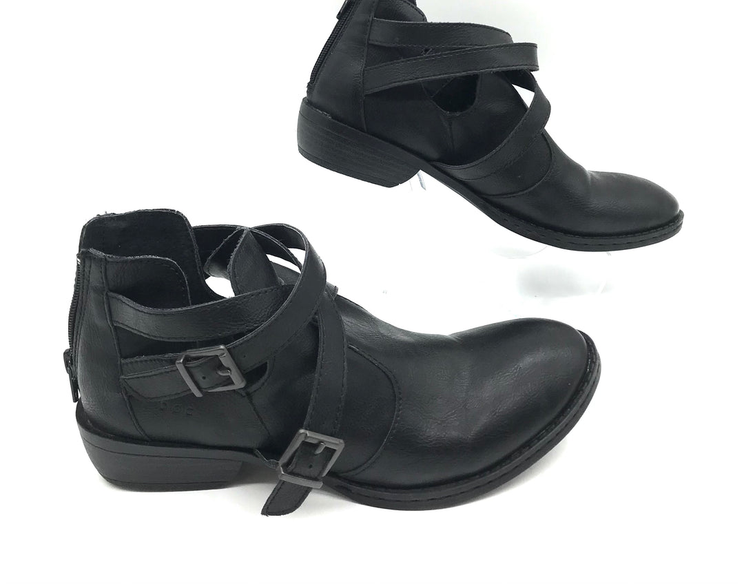 Photo #1 - BRAND: BOC <BR>STYLE: BOOTS ANKLE <BR>COLOR: BLACK <BR>SIZE: 7.5 <BR>SKU: 262-26275-70285