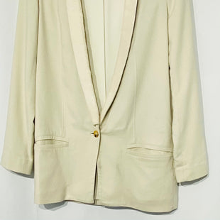 Primary Photo - BRAND:  CMA STYLE: BLAZER JACKET COLOR: CREAM SIZE: XS /2OTHER INFO: HELMUT LANG - SKU: 262-26275-69826OVERSIZED DESIGNER FINAL GENTLE WEAR (SOME SPOTS) SEE PHOTOSWOOL & ELASTANE