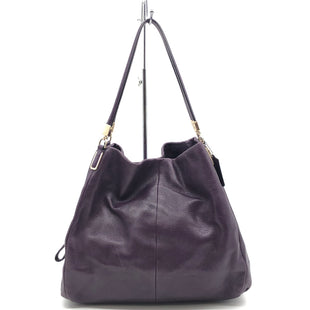 "Primary Photo - BRAND: COACH STYLE: HANDBAG DESIGNER COLOR: PURPLE SIZE: MEDIUM 11.5""H X 13""L X 5"" WDROP: 8""SKU: 262-26275-76647GENTLE WEAR ON CORNERS - AS IS"
