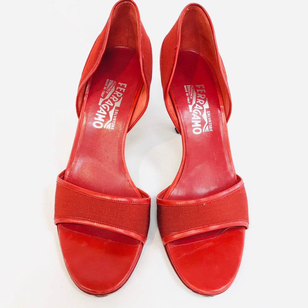 Primary Photo - BRAND: SALVATORE FERRAGAMO <BR>STYLE: SANDALS LOW<BR>COLOR: RED <BR>SIZE: 8 <BR>SKU: 262-26211-126978<BR>AS IS