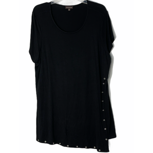 Primary Photo - BRAND: MULTIPLES STYLE: TOP SHORT SLEEVE BASIC COLOR: BLACK SIZE: 1X SKU: 262-26241-47539