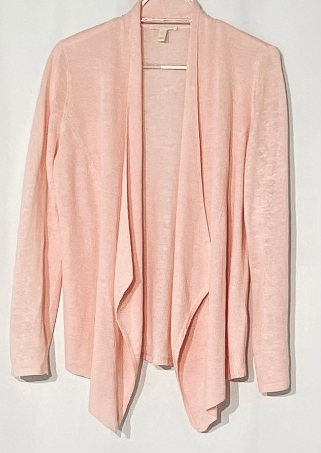 Primary Photo - BRAND: EILEEN FISHER <BR>STYLE: SWEATER CARDIGAN LIGHTWEIGHT <BR>COLOR: LIGHT PINK <BR>SIZE: XS <BR>SKU: 262-26211-141455<BR>100% LINEN<BR>