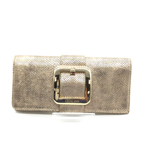 "Primary Photo - BRAND: MICHAEL KORS STYLE: CLUTCH COLOR: GOLD SIZE: 5.50""H X 11""L X 1""DSKU: 262-26211-144808IN GOOD SHAPE AND CONDITION"