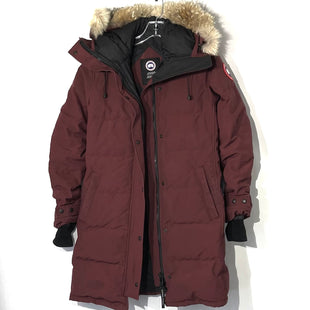Primary Photo - BRAND:  CANADA GOOSESTYLE: COATCOLOR: MAROON SIZE: S OTHER INFO: CANADA GOOSE - SKU: 262-26211-143205DESIGNER FINAL GENTLEST WEAR AROUND EDGES AND WRIST AREA (TINY HOLE) AS IS