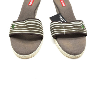 Primary Photo - BRAND: LACOSTE STYLE: SANDALS LOW COLOR: GREY WHITE SIZE: 9 SKU: 262-26275-64172AS IS