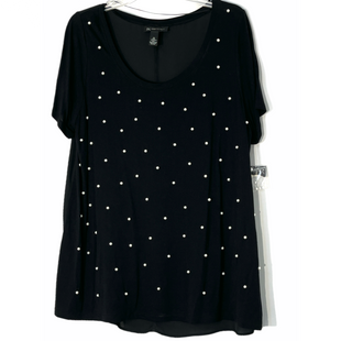 Primary Photo - BRAND: INC STYLE: TOP SHORT SLEEVE COLOR: BLACK SIZE: 1X SKU: 262-26241-47552