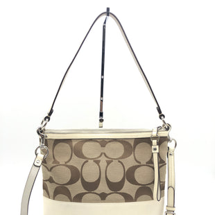 "Primary Photo - BRAND: COACH STYLE: HANDBAG DESIGNER COLOR: MONOGRAM SIZE: SMALL 10.5""H X 12""L X 2""WSTRAP DROP: 19.5""SKU: 262-26275-73669SLIGHT WEAR - AS IS"