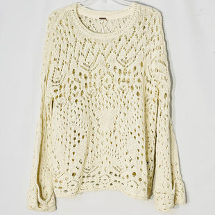 Primary Photo - BRAND: FREE PEOPLE STYLE: SWEATER LIGHTWEIGHT COLOR: CREAM SIZE: XS/SSKU: 262-26211-143447SIZE TAG SHOWS XS BUT OVERSIZED AS IS