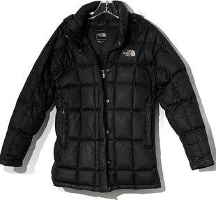 Primary Photo - BRAND: NORTHFACE STYLE: COAT COLOR: BLACK SIZE: M SKU: 262-26275-75175JUST OVER HIP LENGTH DESIGNER FINAL TINY HOLE AND GLUE SPOT (SEE PICS AS IS)