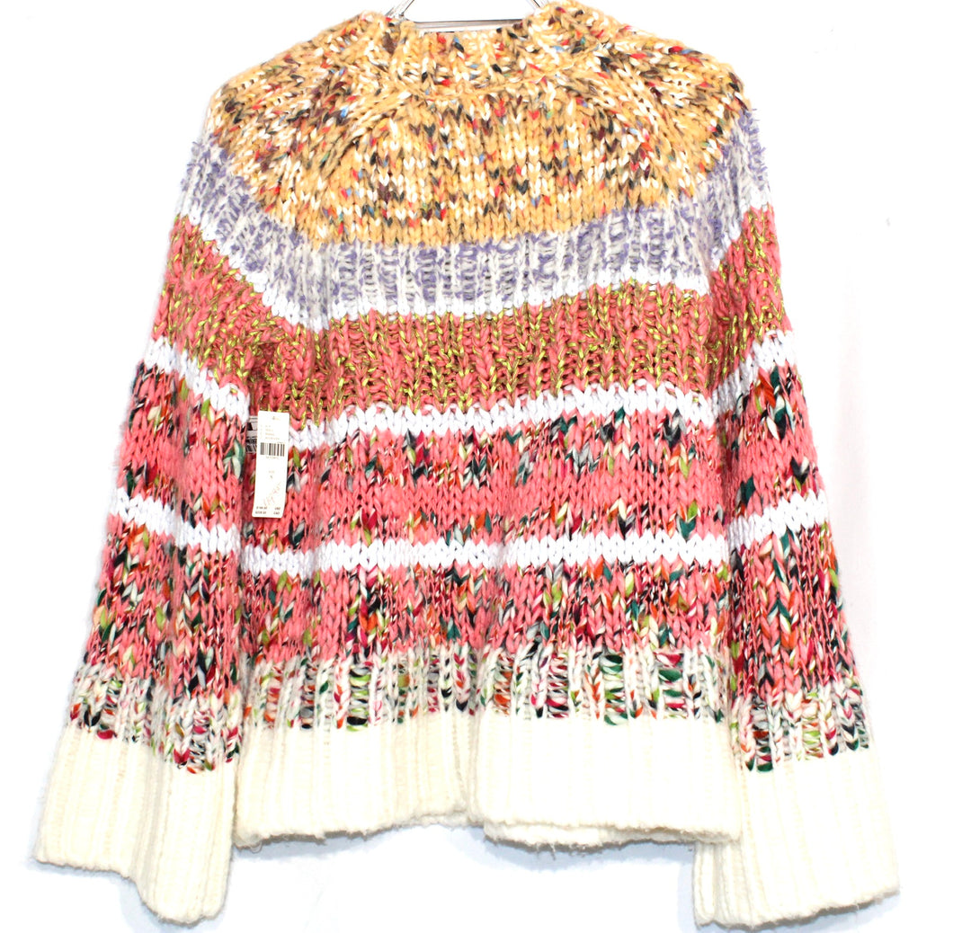 Photo #1 - BRAND: ANTHROPOLOGIE <BR>STYLE: SWEATER LIGHTWEIGHT <BR>COLOR: MULTI <BR>SIZE: S <BR>SKU: 262-26275-64388<BR><BR>COTTON WOOL POLYESTER