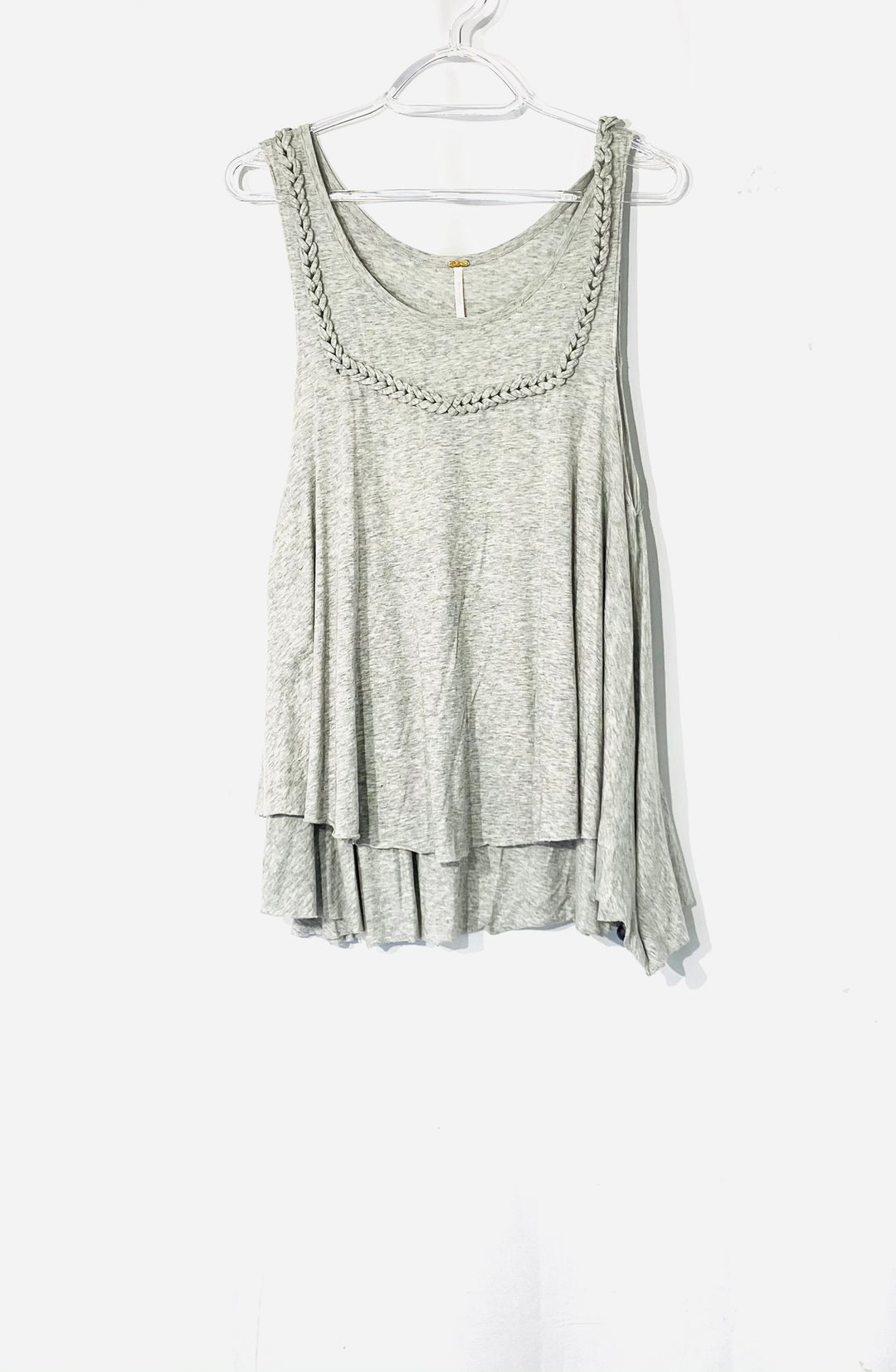 Primary Photo - BRAND: FREE PEOPLE <BR>STYLE: TOP SLEEVELESS <BR>COLOR: GREY <BR>SIZE: L <BR>SKU: 262-26241-42707