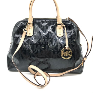 "Primary Photo - BRAND: MICHAEL KORS STYLE: HANDBAG DESIGNER COLOR: BLACK SIZE: MEDIUM 11""H X 13.5""L X 6""WSTRAP DROP: 24""SKU: 262-26275-65441GENTLE WEAR ON CORNERS • SLIGHT WHITE SPOTS • AS IS"