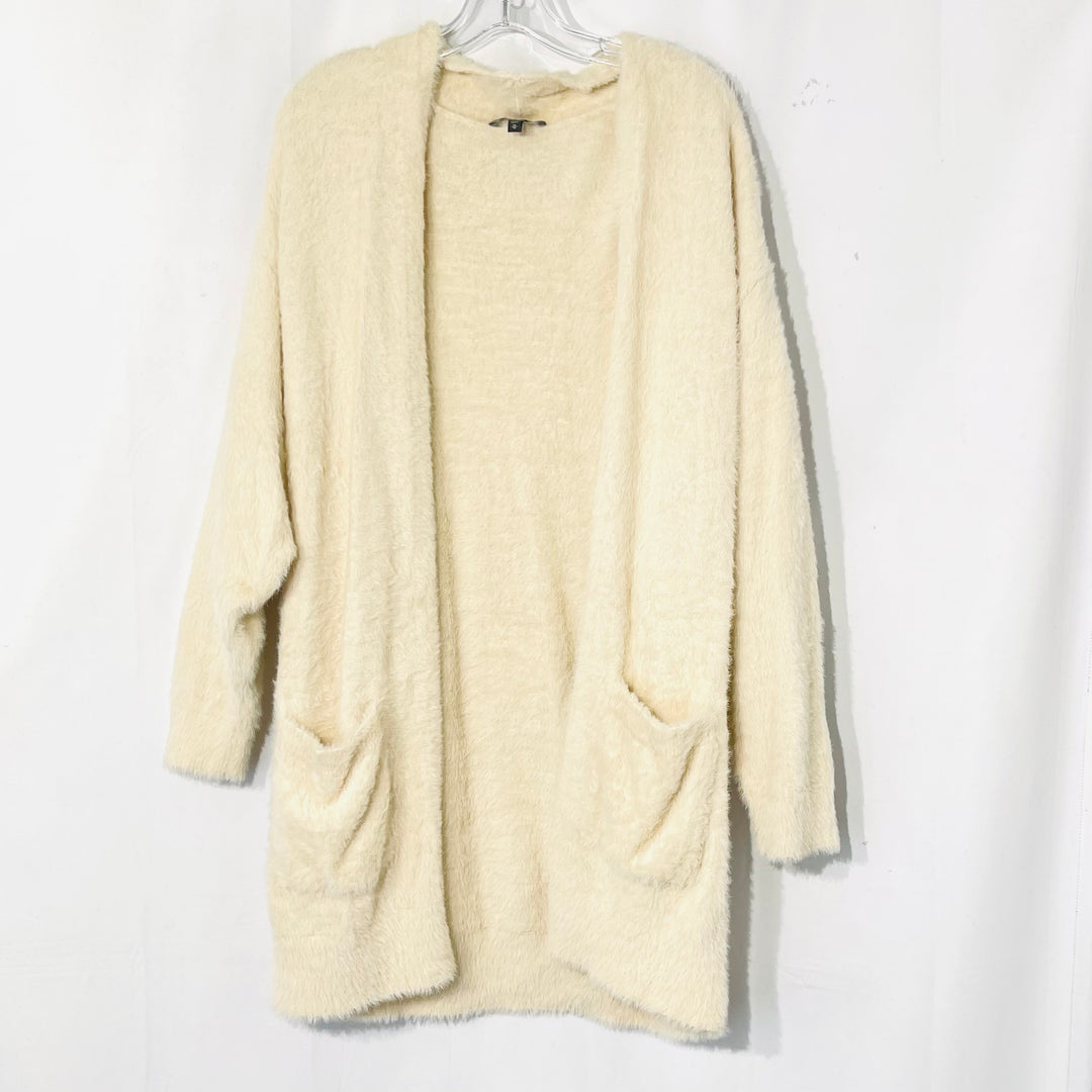 Primary Photo - BRAND: EXPRESS <BR>STYLE: SWEATER CARDIGAN LIGHTWEIGHT <BR>COLOR: BEIGE <BR>SIZE: M <BR>SKU: 262-26275-73760<BR>SOFT