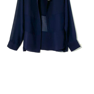 Primary Photo - BRAND: T TAHARI STYLE: BLOUSE COLOR: NAVY SIZE: XL SKU: 262-26211-136466
