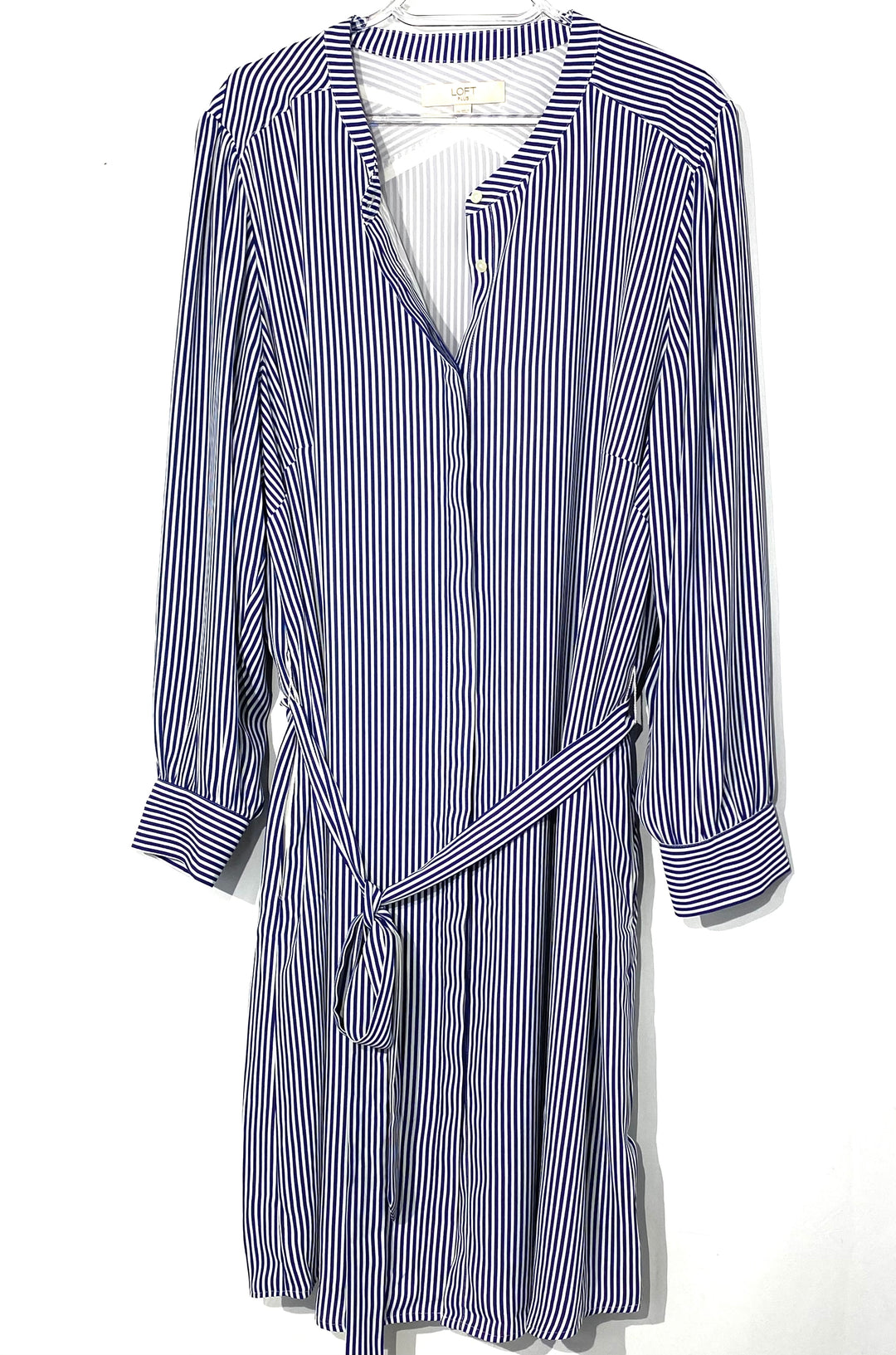 Primary Photo - BRAND: ANN TAYLOR LOFT PLUS<BR>STYLE: DRESS SHORT LONG SLEEVE <BR>COLOR: STRIPED <BR>SIZE: 2X <BR>SKU: 262-26211-140548