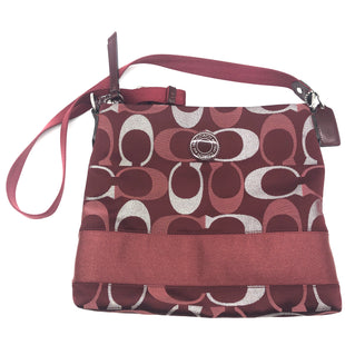 "Primary Photo - BRAND: COACH STYLE: HANDBAG DESIGNER COLOR: MAROON SIZE: SMALL SKU: 262-26275-74455APPROX. 11.5""L X 10.5""H"