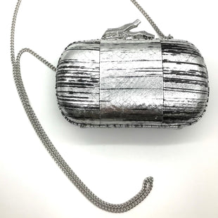 "Primary Photo - BRAND: DIANE VON FURSTENBERG STYLE: HANDBAG COLOR: SILVER SIZE: SMALL SKU: 262-26241-43699APPROX. 7""L X 4.5""H X 2.25""D"