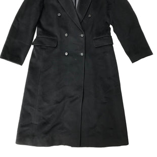 "Primary Photo - BRAND: BURBERRY STYLE: COAT LONG. 70% WOOL, 15% ANGORA, 15% CASHMERECOLOR: BLACK SIZE: L | UK 14 | US 12 | ITA 46. SHOULDER: 17"" . ARM LENGTH: 24.5"". COAT LENGTH: 45"". SKU: 262-26275-68468IN GOOD SHAPE AND CONDITION."