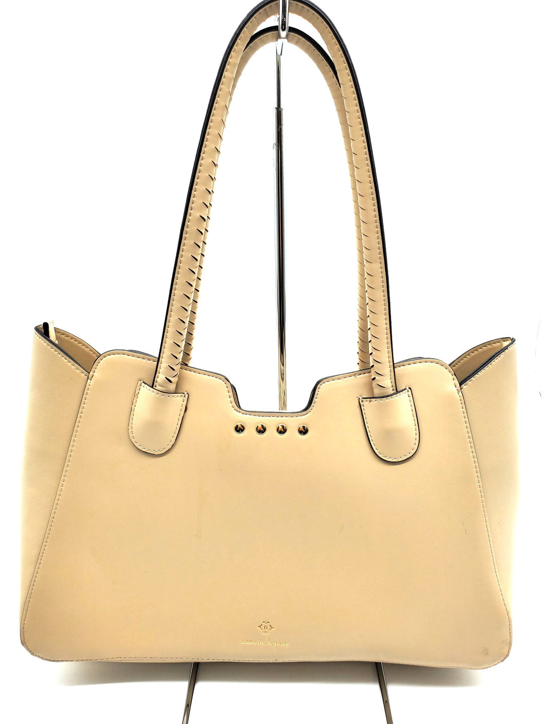 Handbag By Nanette Lepore  Size: Small - BRAND: NANETTE LEPORE <BR>STYLE: HANDBAG <BR>COLOR: BEIGE <BR>SIZE: SMALL <BR>SKU: 262-262101-1167<BR>AS IS