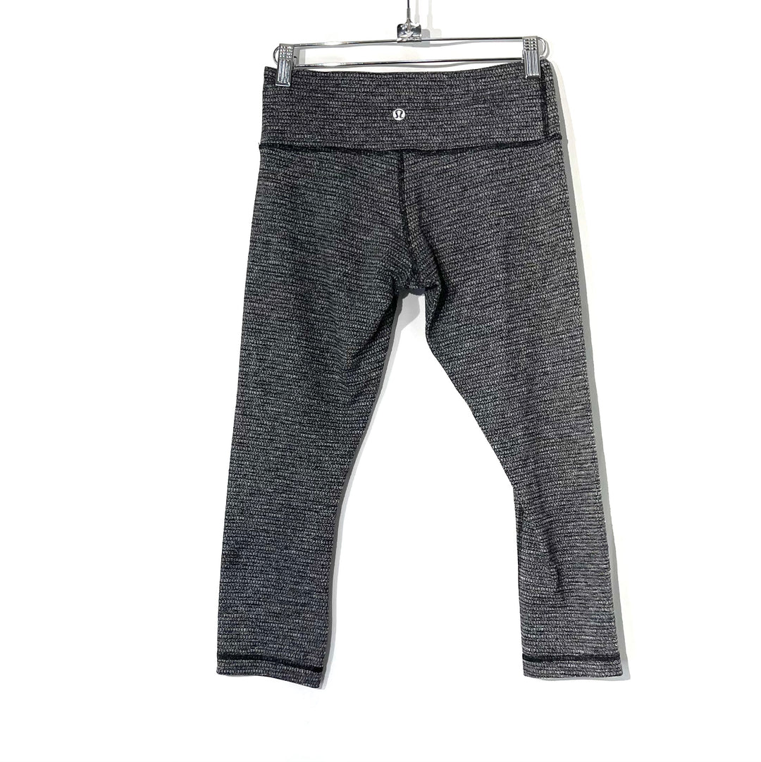 Photo #1 - BRAND: LULULEMON <BR>STYLE: ATHLETIC CAPRIS <BR>COLOR: BLACK WHITE <BR>SIZE: 6 <BR>SKU: 262-26275-73947<BR>DESIGNER FINAL