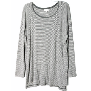 Primary Photo - BRAND: J JILL STYLE: TOP LONG SLEEVE COLOR: GREY WHITE SIZE: XL SKU: 262-26241-47555