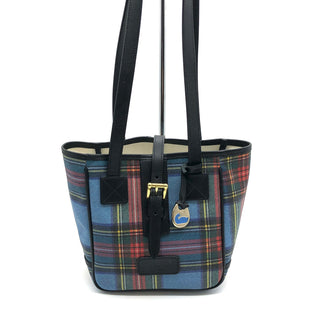 "Primary Photo - BRAND: DOONEY AND BOURKE STYLE: HANDBAG DESIGNER COLOR: PLAID SIZE: SMALL OTHER INFO: SLIGHT WEAR INSIDE AS IS SKU: 262-26241-45431DESIGNER BRAND FINAL SALE AS IS SMALL SPOTS AND SLIGHT WEAR ON INSIDE (SEE PHOTOS). APPROX 10.5""X8""X5"". HANDLE DROP APPROX 11""."