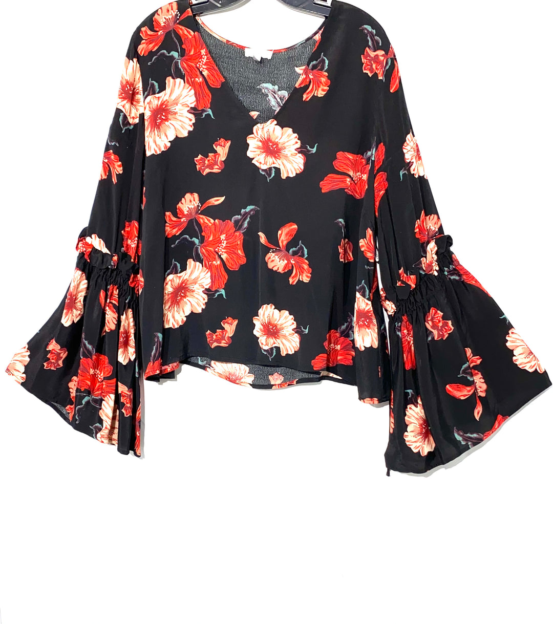 Primary Photo - BRAND: LEITH <BR>STYLE: BLOUSE <BR>COLOR: FLORAL <BR>SIZE: M <BR>SKU: 262-26211-130993