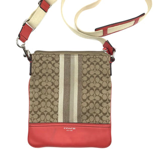 "Primary Photo - BRAND: COACH STYLE: HANDBAG DESIGNER COLOR: TAN SIZE: SMALL | 8.5""H X 7.5""W X 0.5""D. SHOULDER DROP: 23.5"" SKU: 262-26211-140865SOME MARKS AND GENTLE WEAR SHOWS - AS IS."