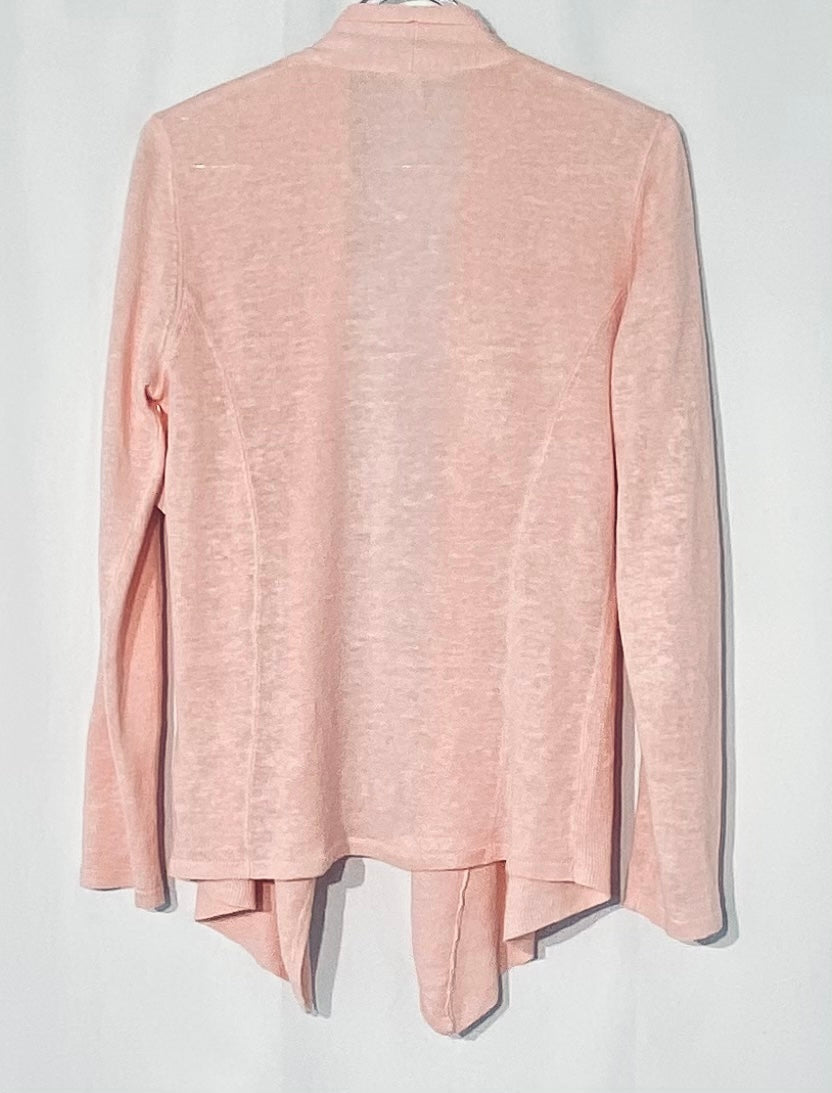 Photo #1 - BRAND: EILEEN FISHER <BR>STYLE: SWEATER CARDIGAN LIGHTWEIGHT <BR>COLOR: LIGHT PINK <BR>SIZE: XS <BR>SKU: 262-26211-141455<BR>100% LINEN<BR>