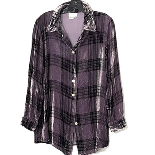 Primary Photo - BRAND: SOFT SURROUNDINGS STYLE: TOP LONG SLEEVE COLOR: PLAID SIZE: M SKU: 262-26275-78178VELOUR