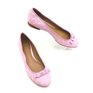 Primary Photo - BRAND: TORY BURCH STYLE: SHOES FLATS COLOR: LIGHT PINK SIZE: 6.5 SKU: 262-26241-44639SLIGHT WEAR ON ONE OF THE BOWS • AS IS