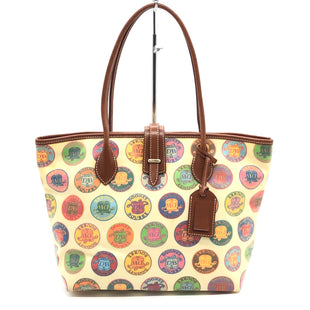 "Primary Photo - BRAND: DOONEY AND BOURKE STYLE: HANDBAG DESIGNER COLOR: MULTI SIZE: MEDIUM 10""H X 15.5""L X 5.5""WDROP: 7.5""SKU: 262-26275-77423SLIGHT INK STAINS ON THE INTERIOR LINING • OVERALL IN GOOD SHAPE •"