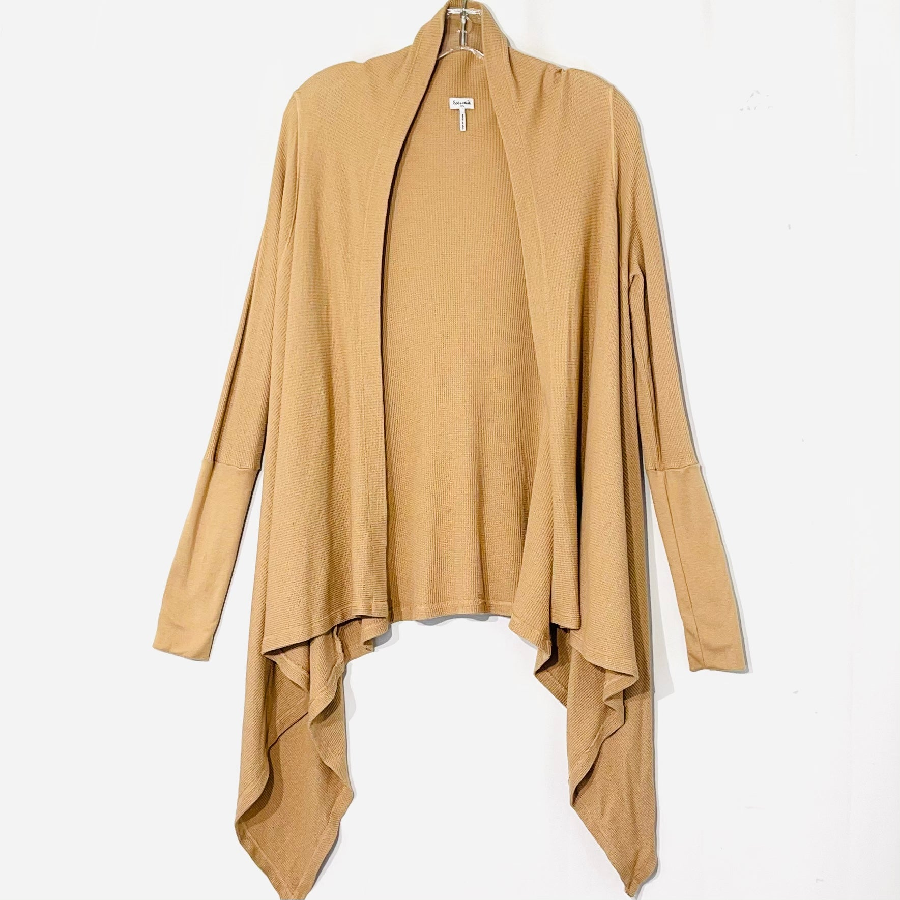 Primary Photo - BRAND: SPLENDID <BR>STYLE: SWEATER CARDIGAN LIGHTWEIGHT <BR>COLOR: TAN <BR>SIZE: M <BR>SKU: 262-26275-75707