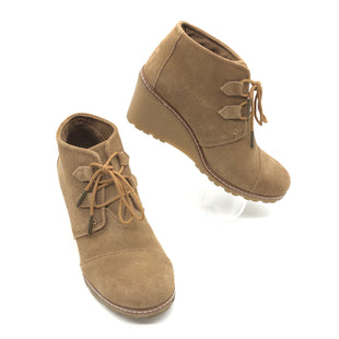 Primary Photo - BRAND: TOMS STYLE: BOOTS ANKLE COLOR: TAN SIZE: 7.5 SKU: 262-26275-77119IN GOOF SHAPE AND CONDITION