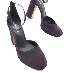 Primary Photo - BRAND: COACH STYLE: SANDALS HIGHCOLOR: EGGPLANT SIZE: 10 SKU: 262-26241-32407IN GREAT SHAPE AND CONDITION