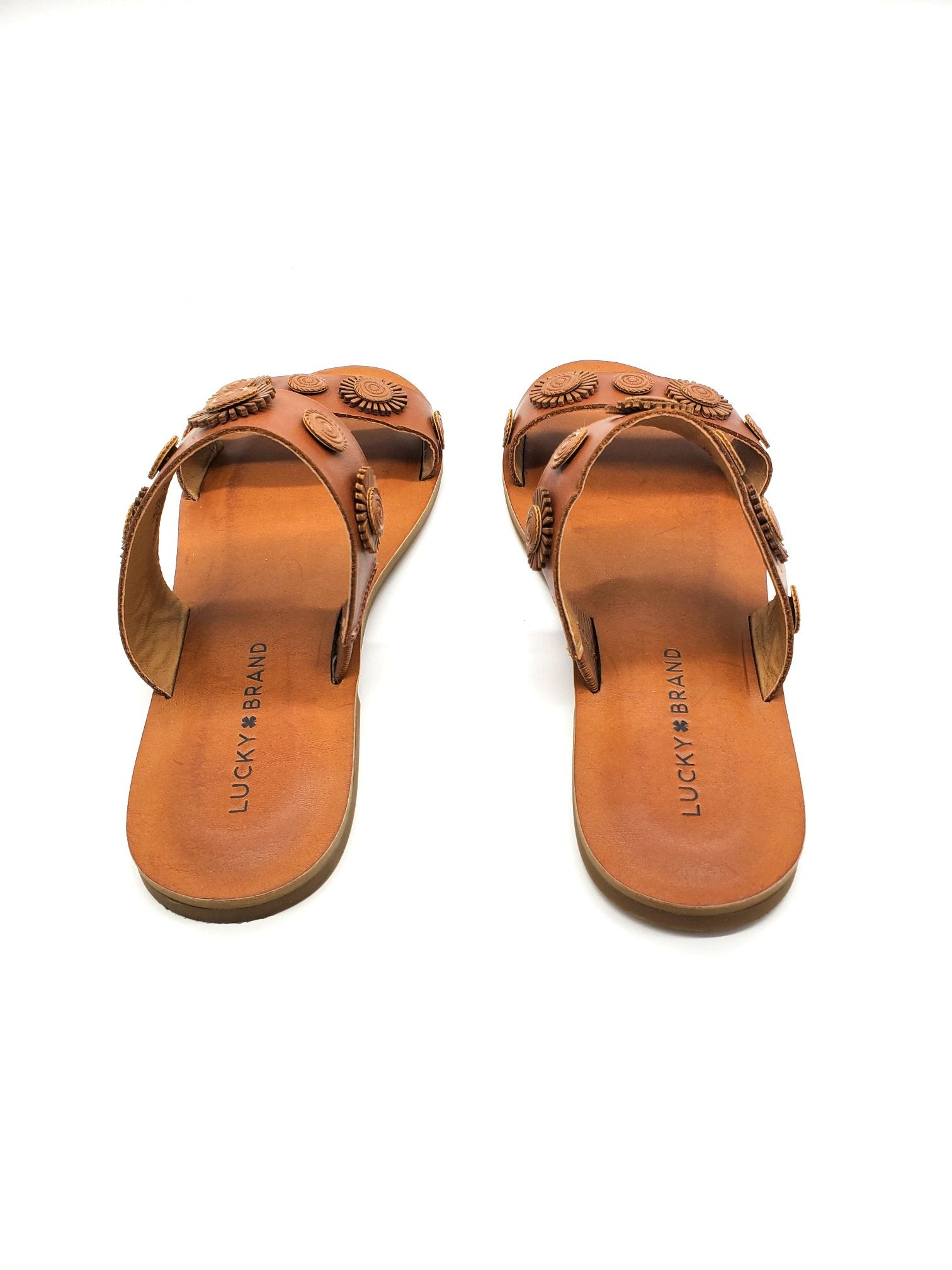 Photo #2 - BRAND: LUCKY BRAND <BR>STYLE: SANDALS FLAT <BR>COLOR: BROWN <BR>SIZE: 7.5 <BR>SKU: 262-262101-994<BR>AS IS